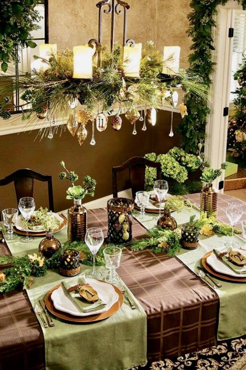 Top 150 Christmas Tables 2 5 Christmas Chandelier Chandelier Decor Christmas Table Settings
