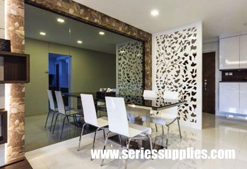 Divider Screen Wall Panel Interior Design Dining Room Living Room Divider Interior Wall Design