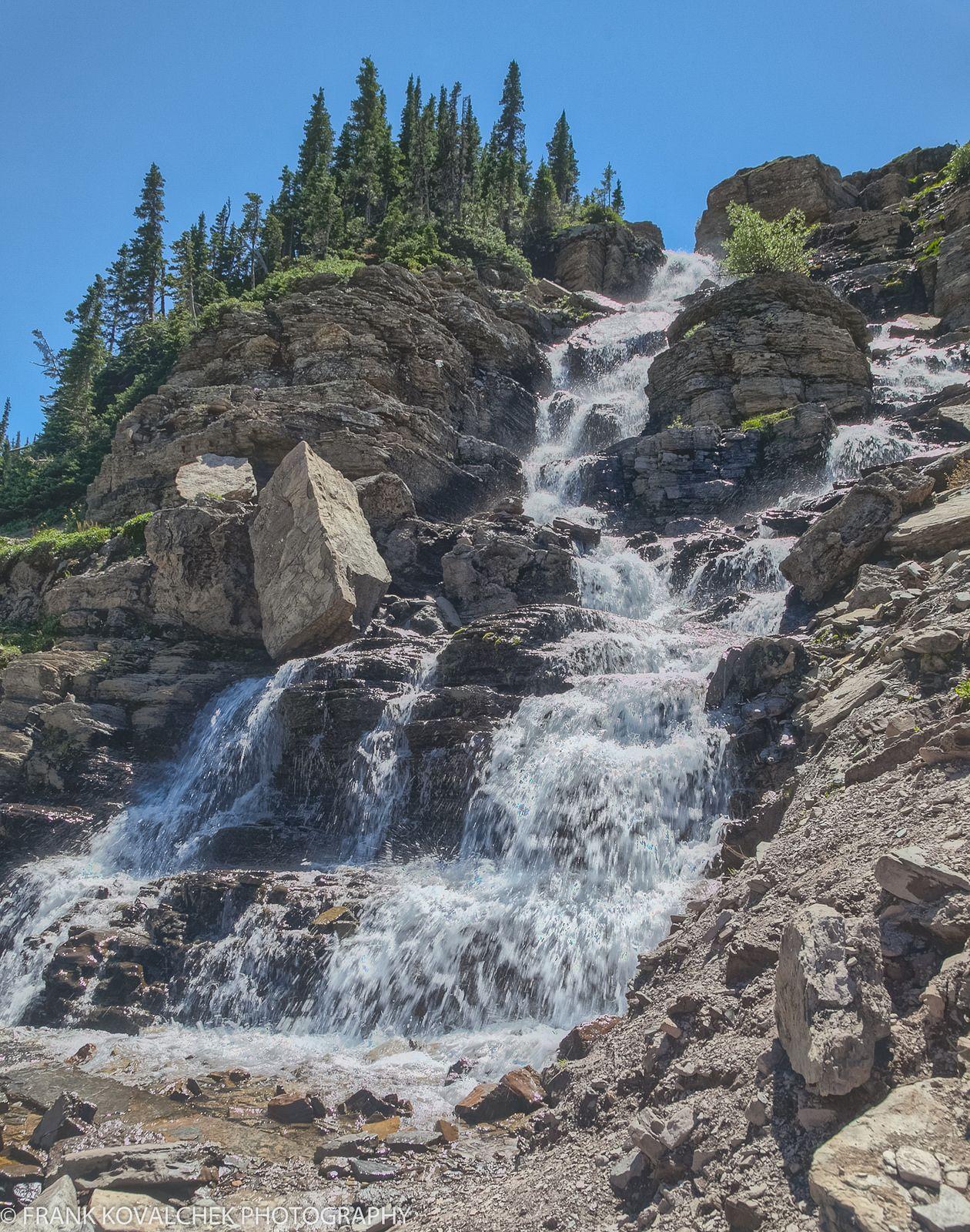 Waterfall near Logan Pass