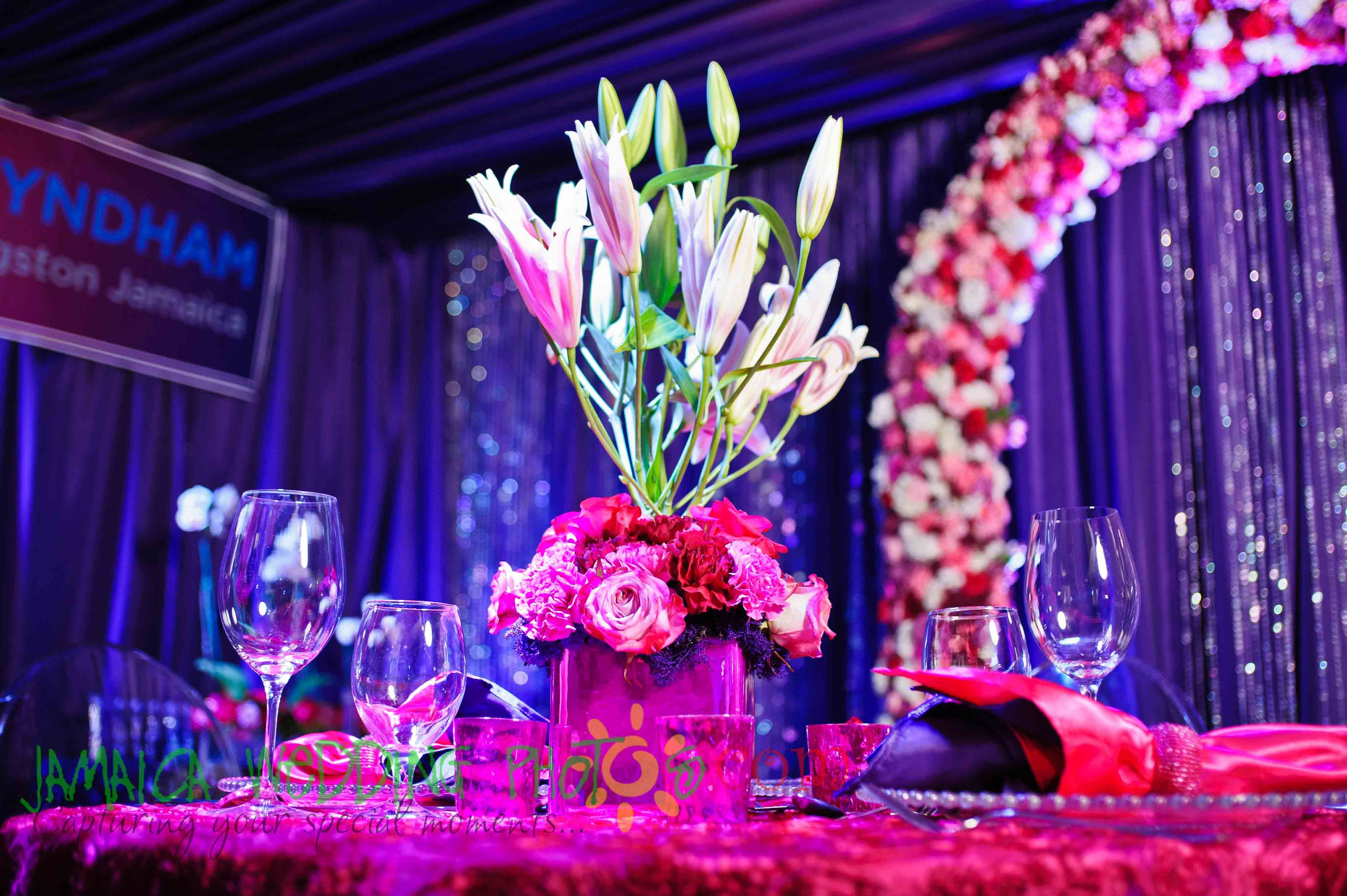 Hot Pink And Purple Wedding Decor Decor By Helen G Events