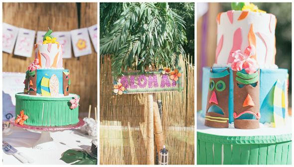 Image result for tiki beach party cakes Ella 10th birthday cake