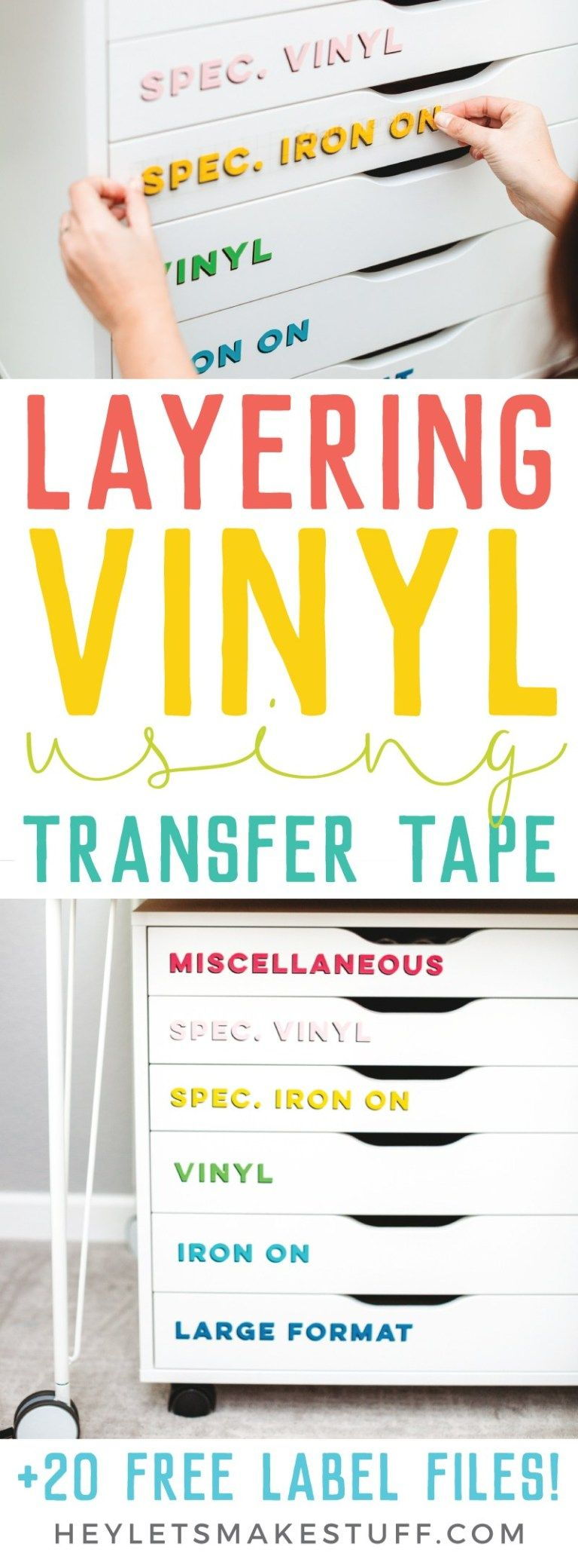 How to Layer Vinyl Using Transfer Tape #cricutvinylprojects