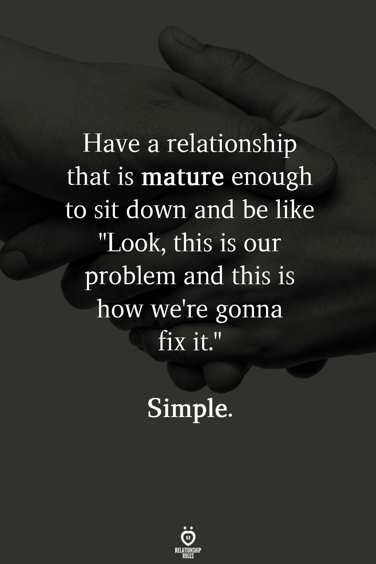 Dating maturity