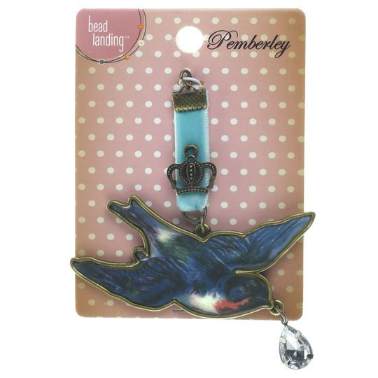 Pemberley blue bird pendant by bead landing pendants and products pemberley blue bird pendant by bead landing mozeypictures Image collections
