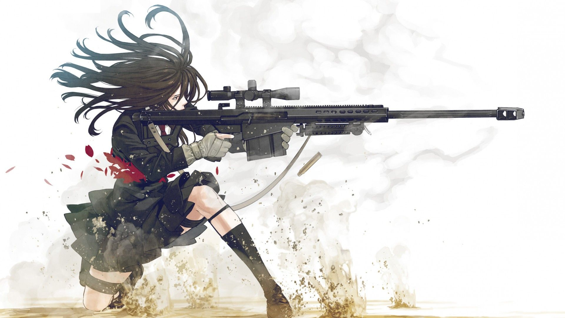 Anime Female Soldier anime girls usa soldier