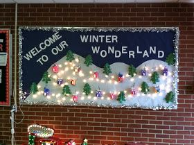 A View from a Different Angle: My Kindergarten's Winter Wonderland Bulletin Board #decemberbulletinboards