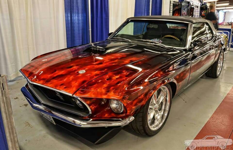 mustang flames Classic cars muscle, Mustang cars