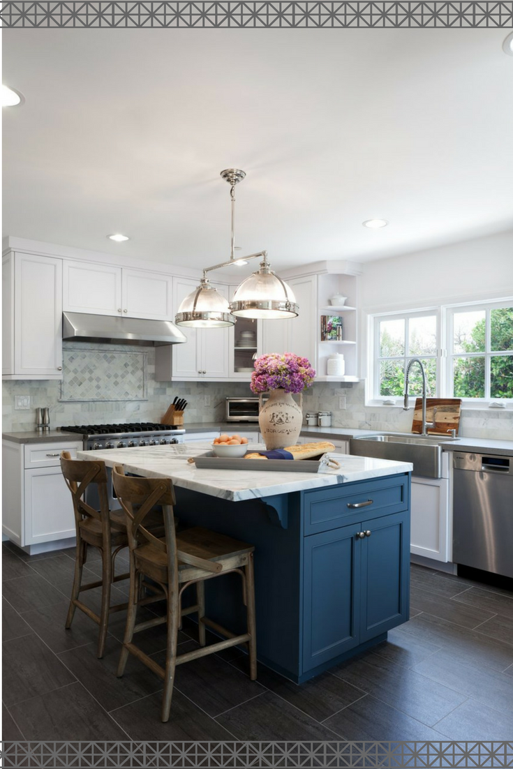 unique kitchen center island. What A Unique Kitchen Island Idea! I Need White With Accent Color Like This #ad Center