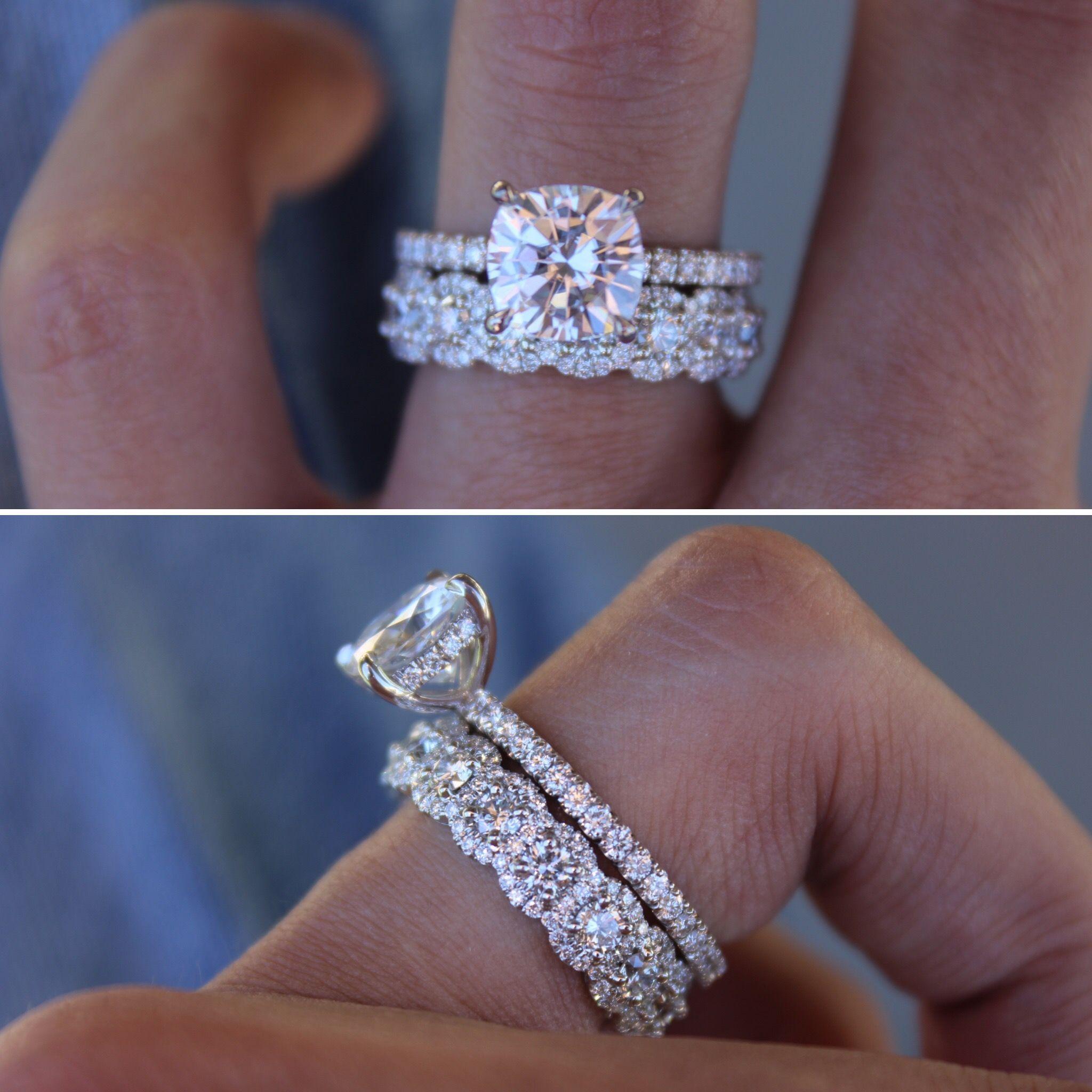 3mm Diamond & Halo Eternity Band in 2020 Diamond wedding