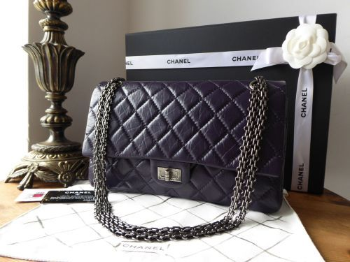 a03e9749ca76 Chanel 226 Reissue Mademoiselle Flap in Distressed Purple Calfskin with  Antiqued Ruthenium Jewellery Chain >