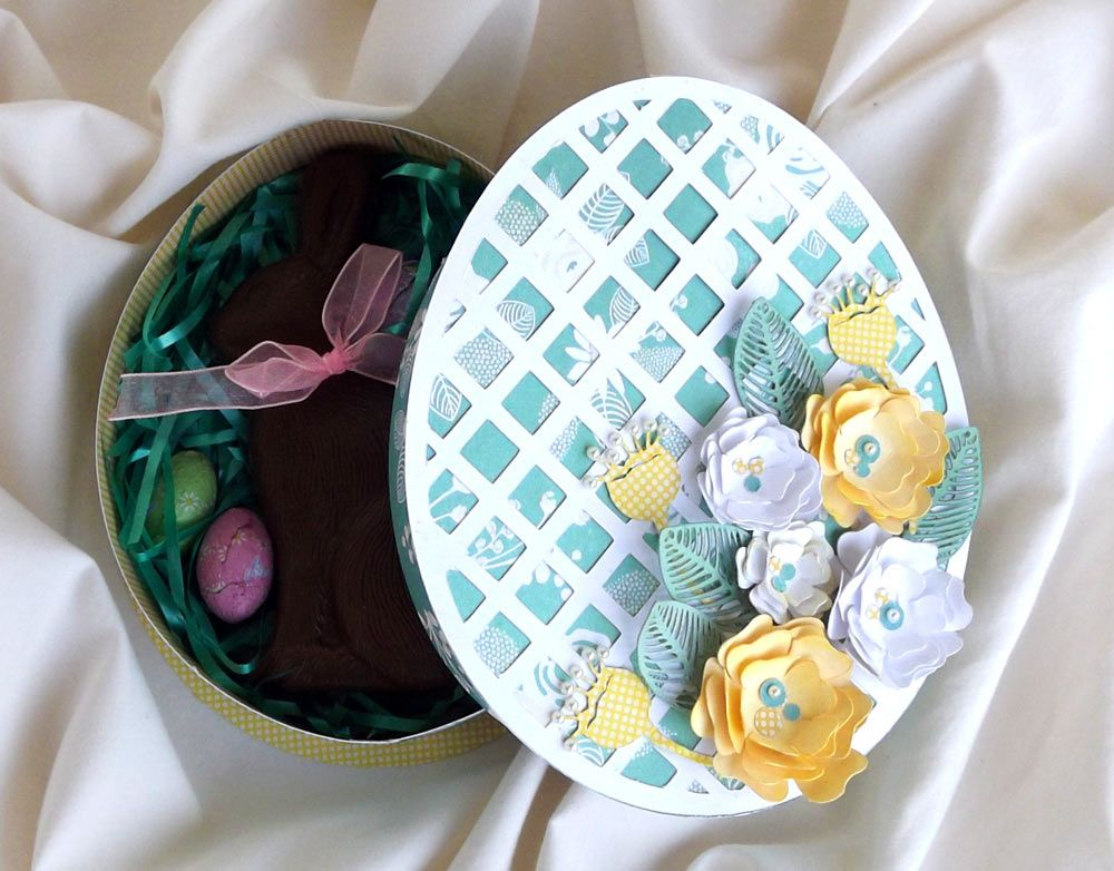 Easter egg shaped gift box cutting files in svg and wpc this is a easter egg shaped box negle Images