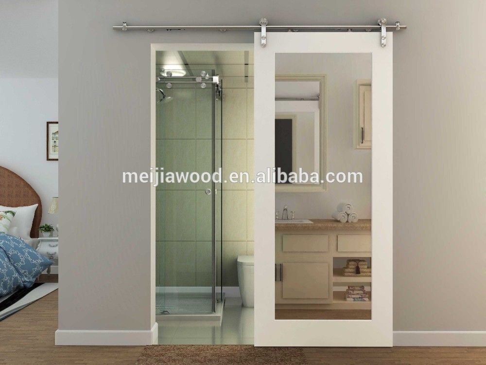 Hotel Sliding Barn Door Mirror Inlay Mdf Hanging Door Buy Mdf Interior Door Sliding Mirror Wardrobe Doors Hinged Mirror Doors Product On Alibaba Com Mirror Barn Door Sliding Bedroom Doors Diy Sliding Barn