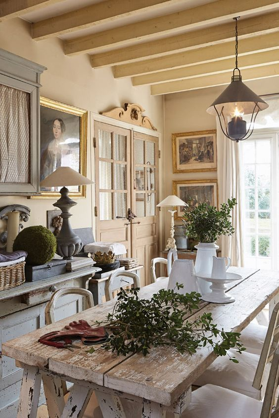 A Collection Of Beautiful Kitchens In France With Inspiration From French Country Dining Room Decor Living