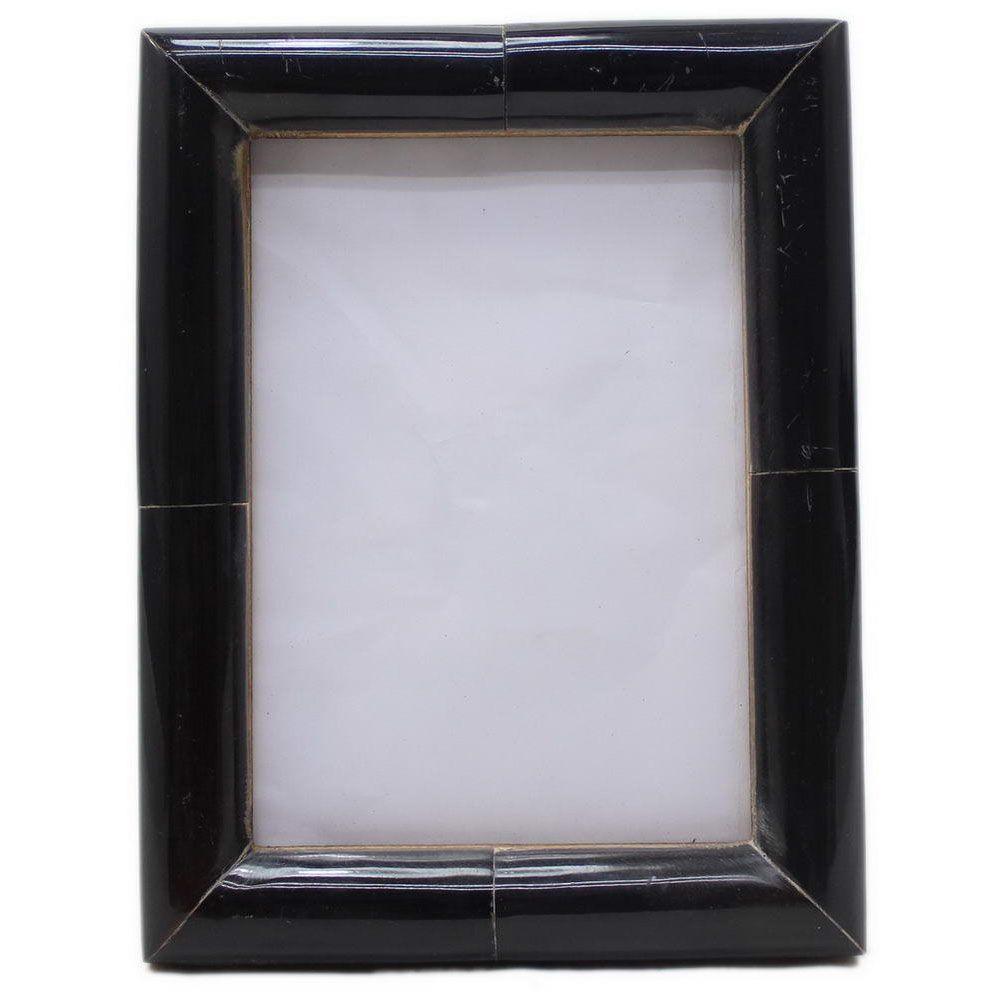 classic black curved horn frame  photo frames for that special  - classic black curved horn frame