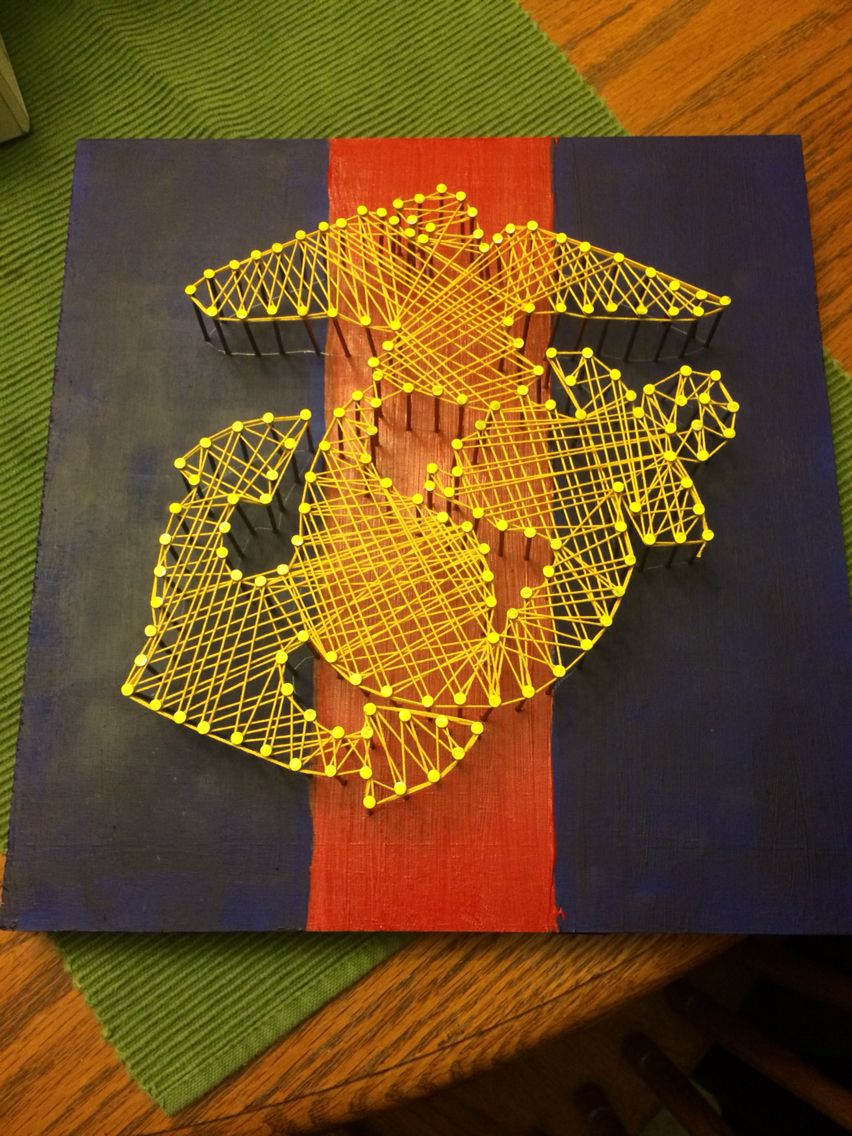 Made this string art for my boyfriend who\'s in the U.S Air Force. 3 ...