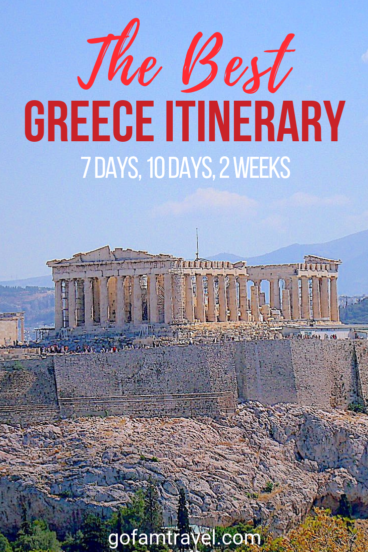The Perfect Greece Itinerary to Take Now! (Don't Miss the Amazing Athens Itinerary) #visitgreece