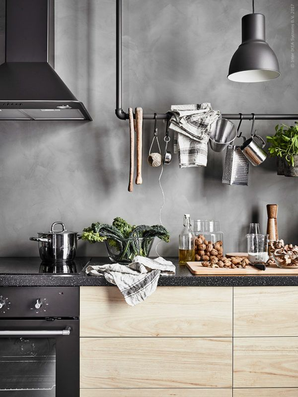 A cool scandi Ikea kitchen - Daily Dream Decor