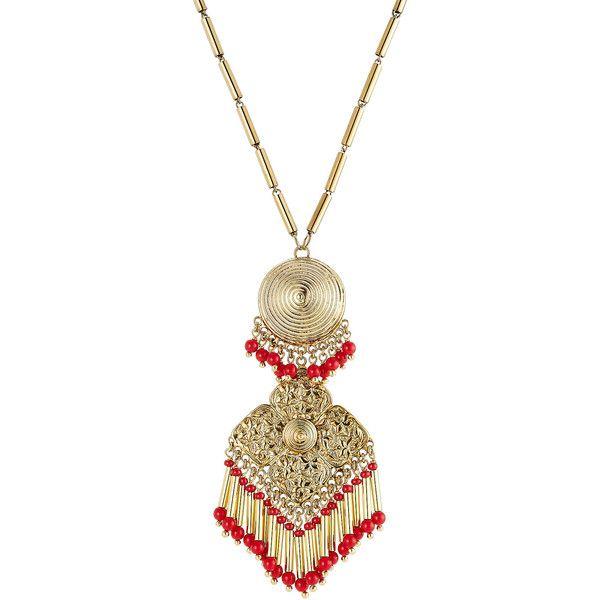 Perles Et Pendentif Orné Cristal-etro 7GO7z94HOy