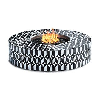Arcadia Mosaic Tile Fire Table by Martyn Lawrence Bullard ... on For Living Lawrence Fire Pit id=91017