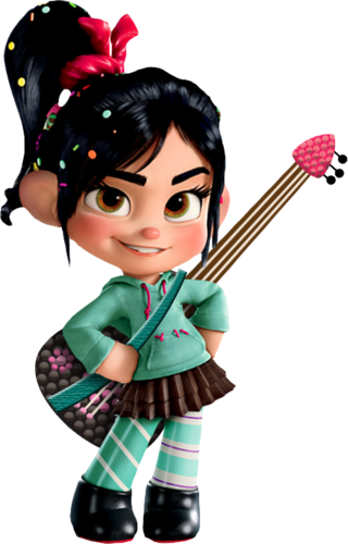 Wreck It Ralph Wallpaper Titled Vanellope And Her Guitar