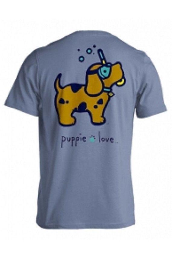 Puppie Love Brand Scuba Doo Stone Blue Short Sleeve T Shirt