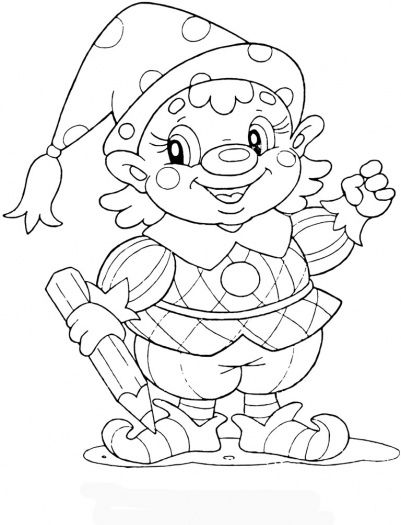 Gnome At School Coloring Page Super Coloring Cute Coloring Pages Coloring Pages Preschool Coloring Pages