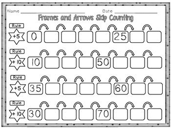 skip counting with frames and arrows math skip counting math classroom 2nd grade math. Black Bedroom Furniture Sets. Home Design Ideas