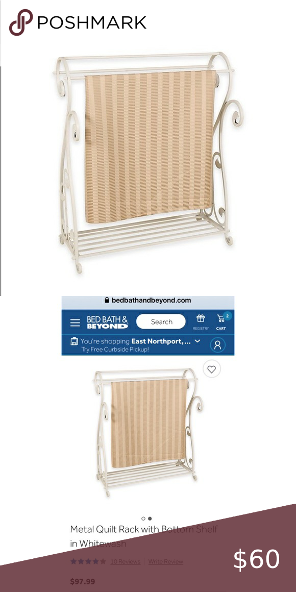 Quilt Blanket Rack With Bottom Shelf Bnib Blanket Rack Bottom Shelf Quilt Blanket
