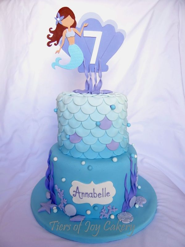 Mermaid Themed Cake With Starfish Coral Pearls And
