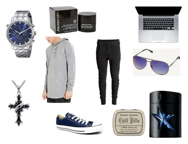"""Let's Chill"" by lovely-naledi on Polyvore featuring Forever 21, Converse, Tommy Hilfiger, H&M, Shiseido, Thierry Mugler and Fat Face"