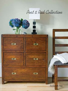 Post & Rail Reclaimed Pine Chest transitional dressers chests and bedroom armoires