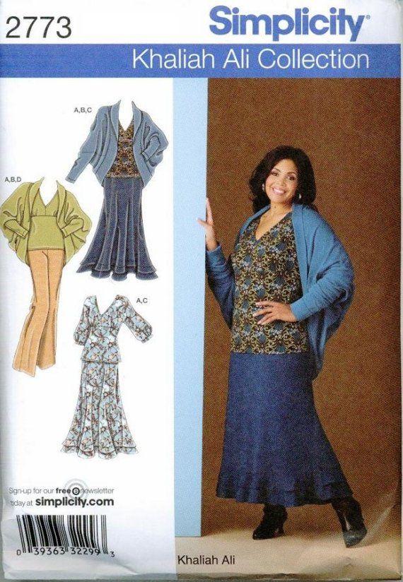 Womens Sewing Pattern Plus Size Simplicity 2773 26 32 Khaliah Ali