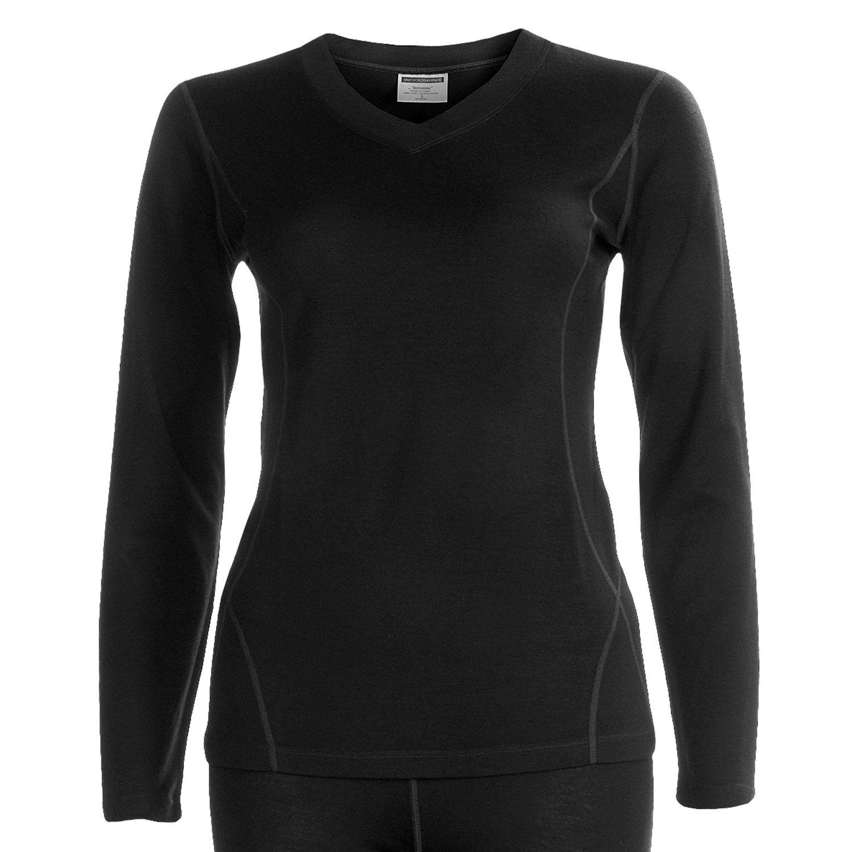 Terramar woolskins merino wool v neck shirt long sleeve for Merino wool shirt long sleeve
