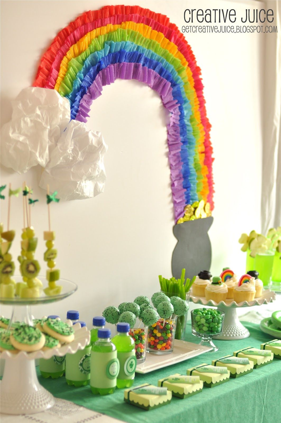 St Patrick S Day Rainbow Party Amp Free Printables In