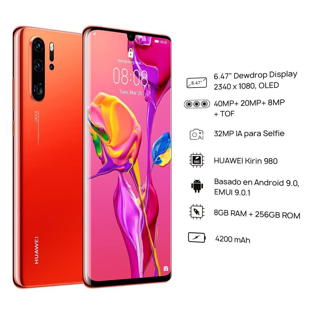 Smartphone Huawei P30 Pro 256 Gb Unlocked Color Amber Sunrise By Huawei Smartphone Huawei Leica