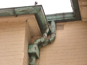 Copper Guttering Compared To Other Metal Guttering Materials Gutters Downspout Aged Copper
