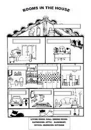 english worksheets rooms in the house esl activities pinterest worksheets homework and. Black Bedroom Furniture Sets. Home Design Ideas
