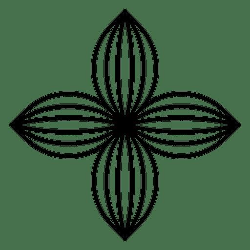 Four Petal Flower Logo Ad Affiliate Ad Logo Flower Petal Flower Logo Natural Logo Transparent Flowers