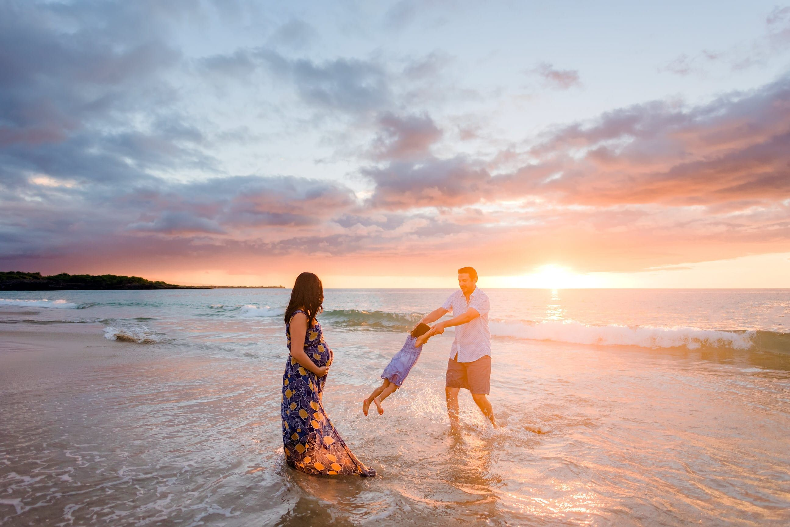 Beautiful Sunset Beach Family Photography Session On The Big