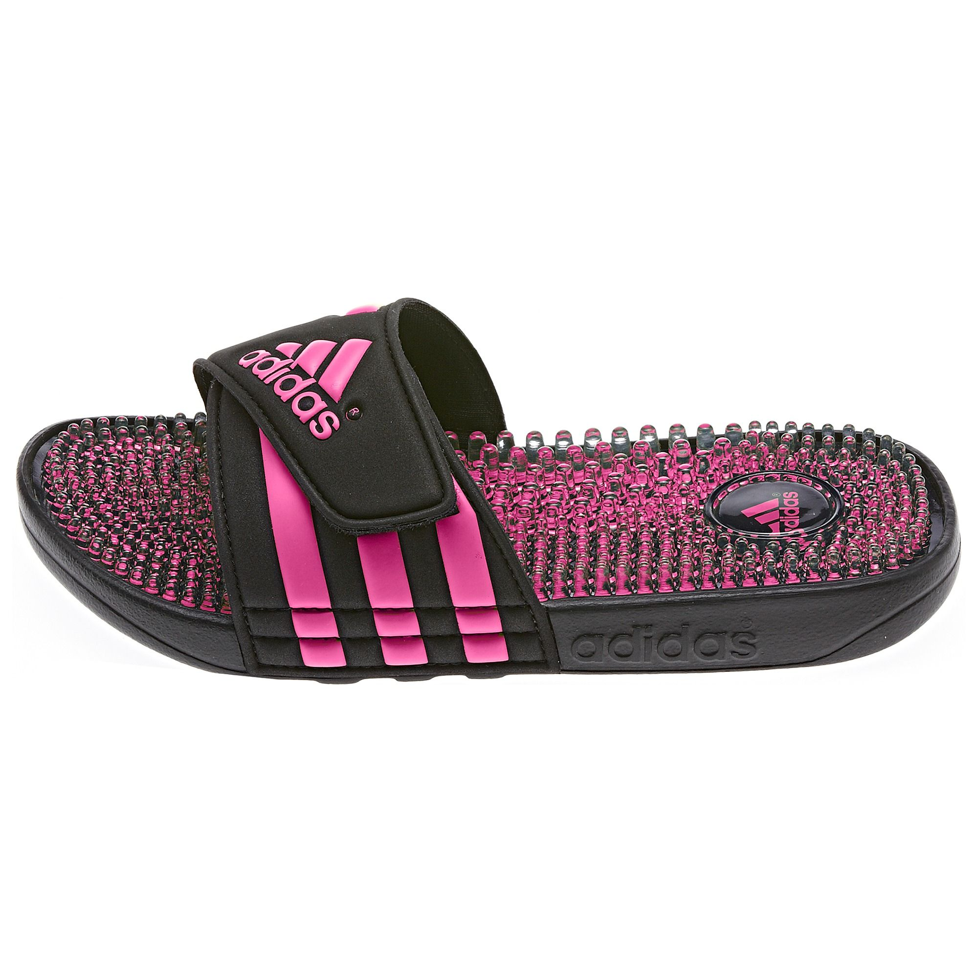 7986ea4db632ff The new midsole design of these women s adissage Fade Slides by adidas  updates a popular massage slide style and features a cool new fade print on  the ...