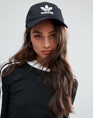 6382bc7d845f6 adidas Originals Logo Cap In Black in 2019