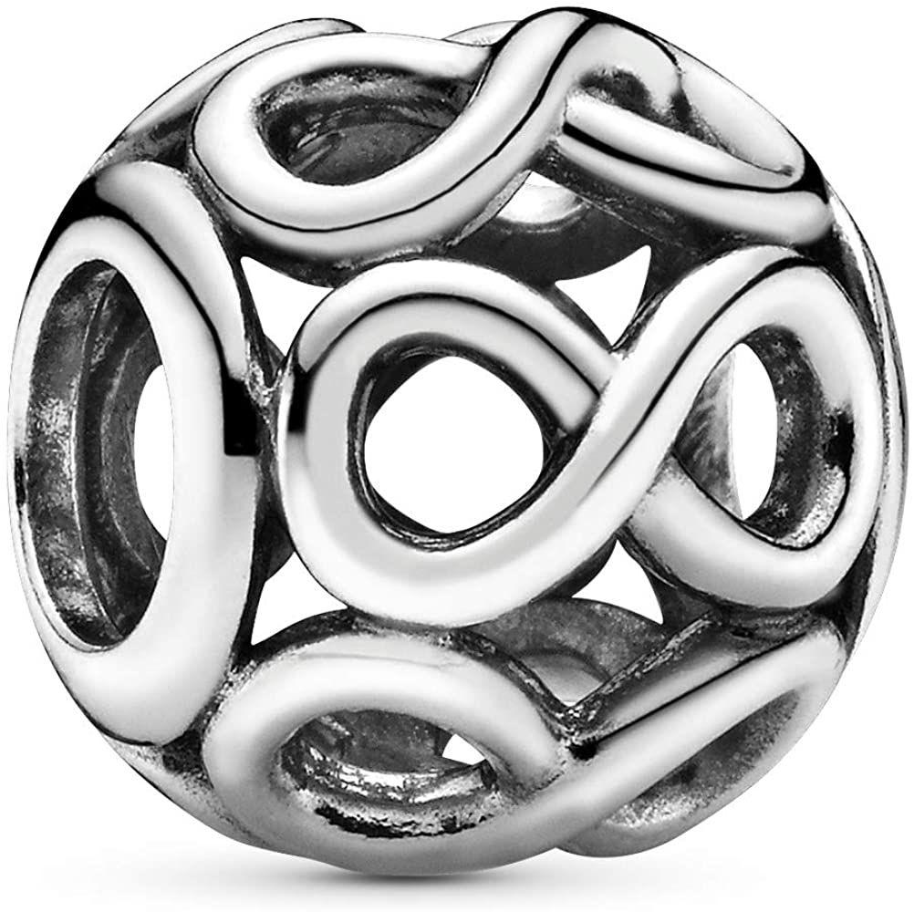 Amazon Com Pandora Jewelry Infinite Shine Sterling Silver Charm Jewelry In 2021 Pandora Jewelry Pandora Beads Charms Queen Jewelry