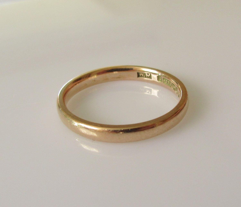 9ct Gold Wedding Ring Band UK Size N USA 6 1 2