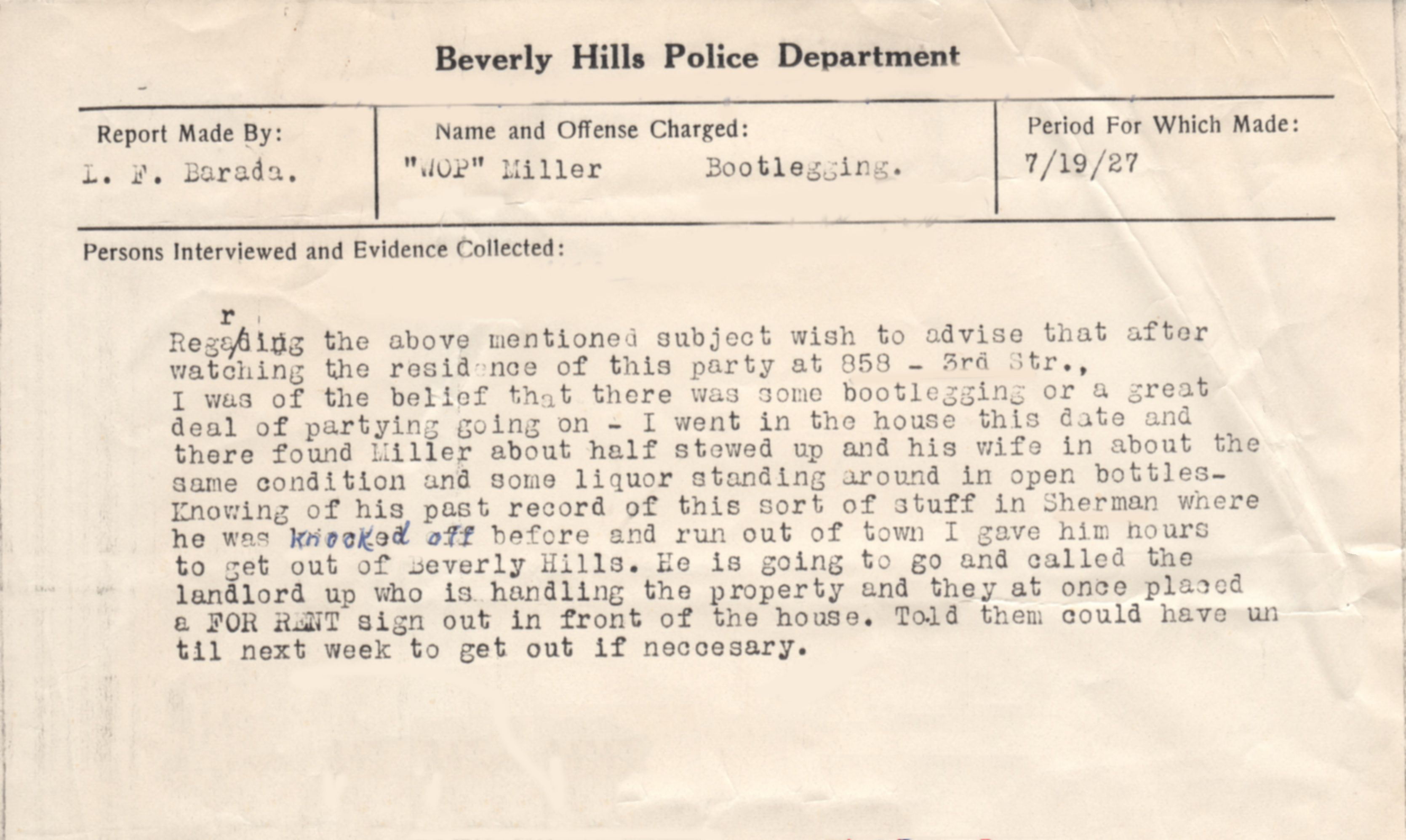 stewed up original police report tables beverly hills then and