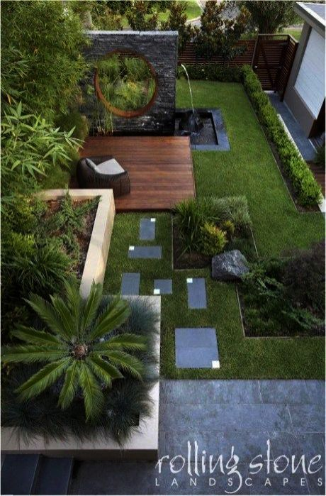 Pin By May On Garden In 2021 Easy Backyard Landscaping Modern Backyard Landscaping Small Backyard Landscaping