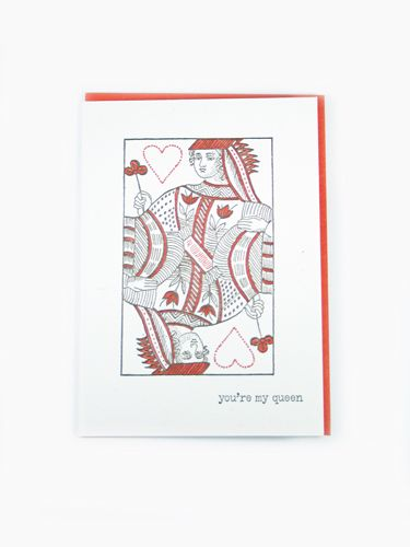 Home Wares  YouRe My Queen Card  Masterfully Printed Letter
