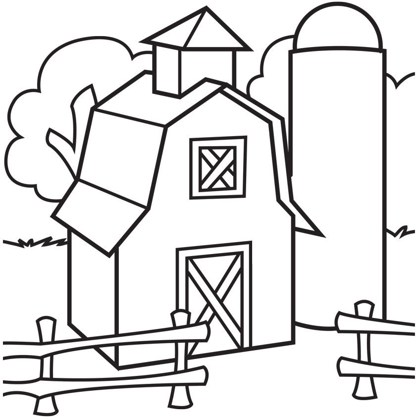 big red barn coloring pages