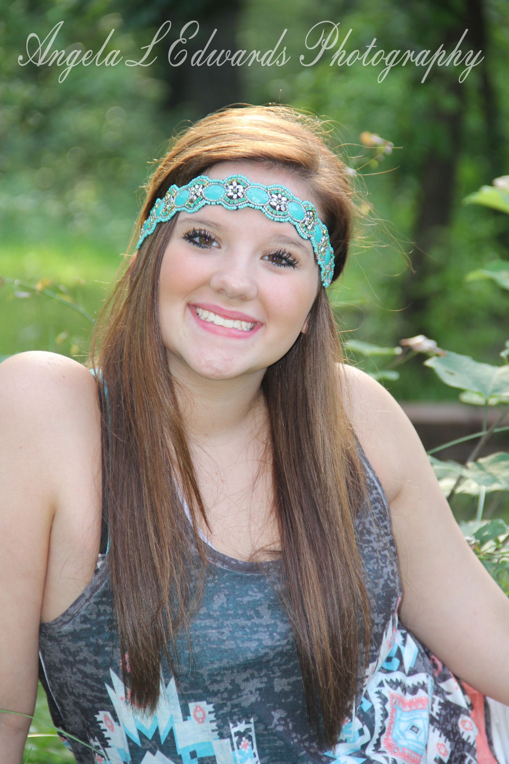 Angela L Edwards photography  My beautiful daughter #nature #summer #headband