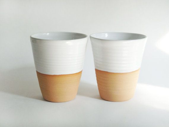 Made To Order Four Mugs Without Handles White