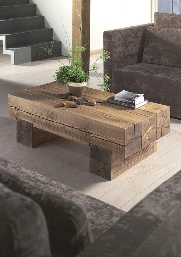 Decouvrez Nos Tables Basses En Bois Massif Design Ou Vintage Table Basse Bois Massif Table Basse Bois Meuble En Bois Rustique